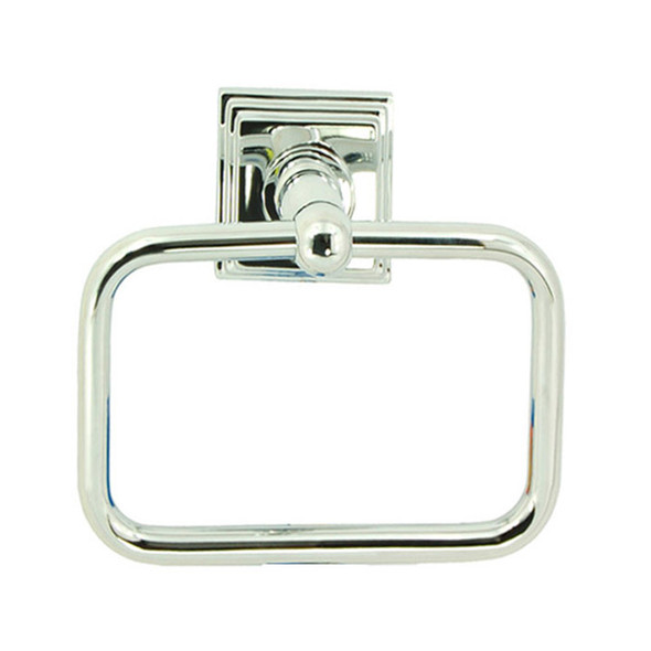 Chrome Union Square Towel Ring