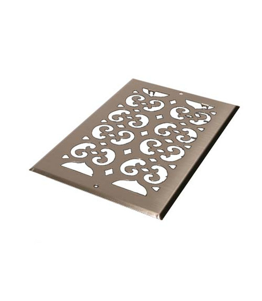 Decor Grates Satin Nickel Cold Air Return Vent Cover
