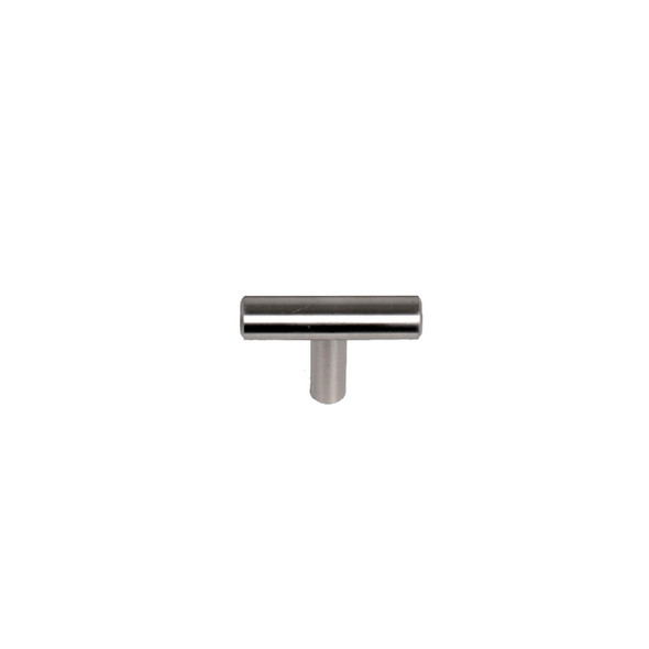"Satin Nickel Skyline Blvd.1 9/64"" (45mm) Solid Bar Pull, sold by Complete Home Hardware."