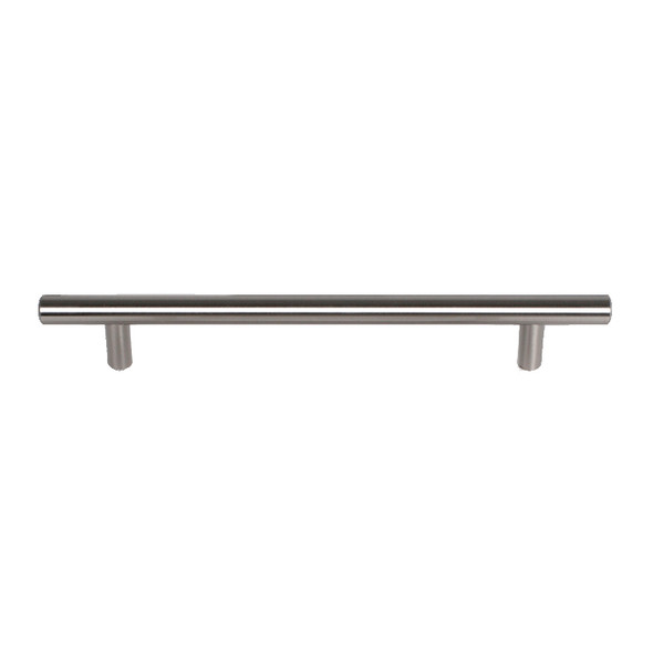 "Satin Nickel Skyline Blvd. 8 11/16"" (220mm) Solid Bar Pull, sold by Complete Home Hardware."