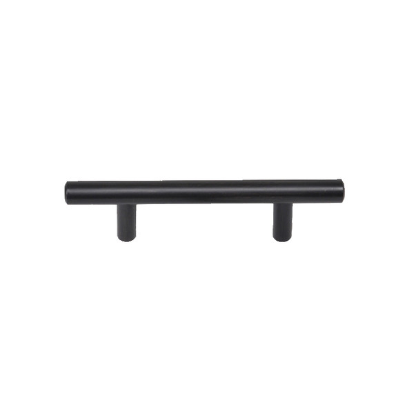 "Dark Bronze Skyline Blvd. 5 3/8"" (136mm) Solid Bar Pull, sold by Complete Home Hardware."