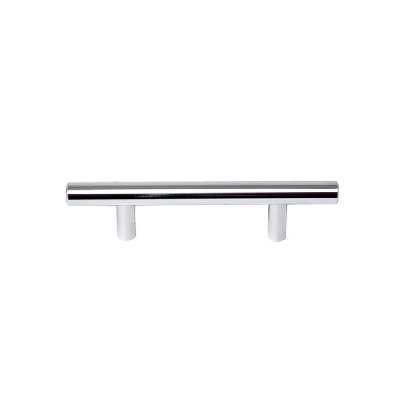"Chrome Skyline Blvd. 5 3/8"" (136mm) Solid Bar Pull, sold by Complete Home Hardware."