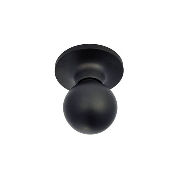 Matte Black Marina Passage Door Knob