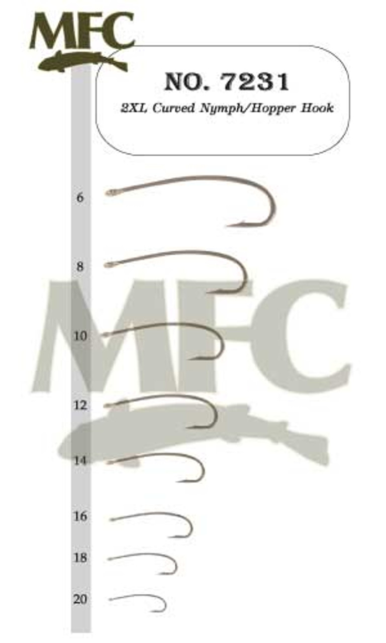 Montana Fly 7045 25 Pack Fly Tying Hooks Size 10