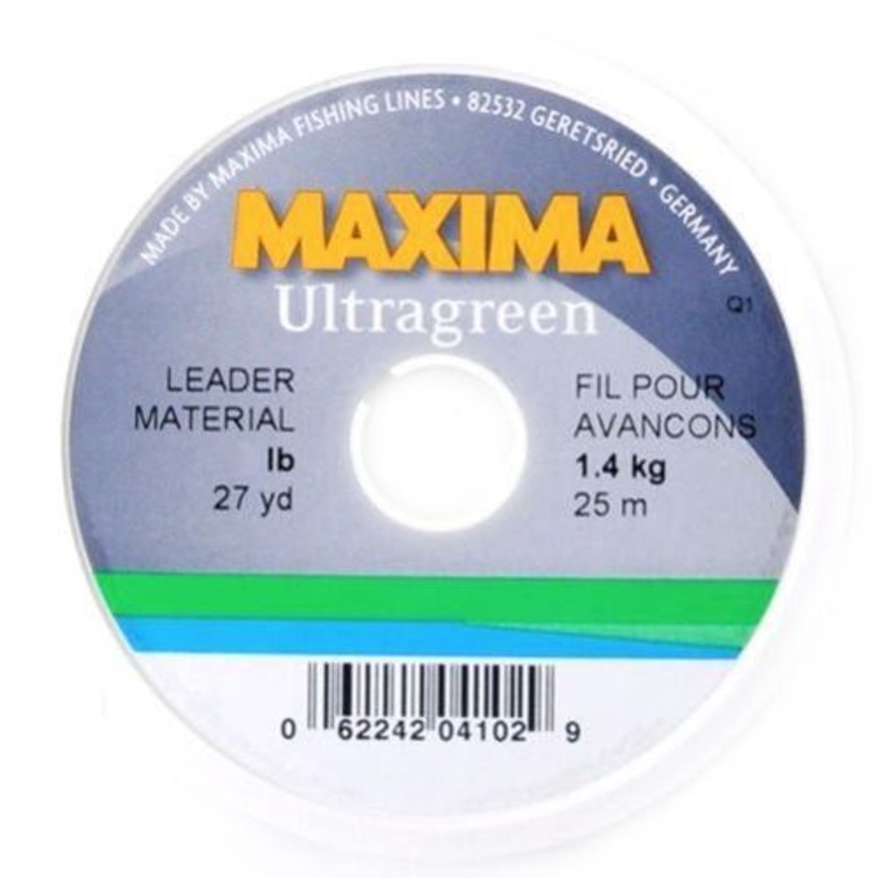 2x 6lb Maxima Ultragreen Fly Fishing Leader//Tippet Material