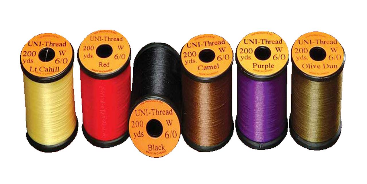 Uni 6//0 Waxed Thread Tan-fly tying