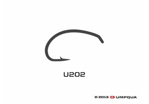 Umpqua U-Series U202 Nymph Curved Tying Hooks 50-pack Size 20 Fly Fishing