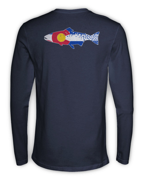 Rep Your Water Colorado Cutthroat Long Sleeve Tee - Navy