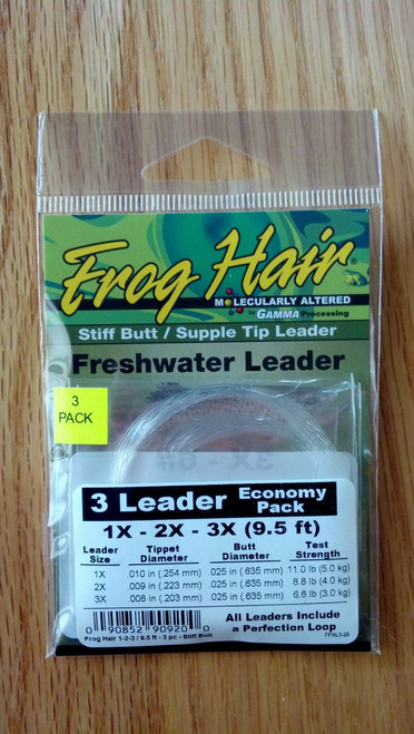 Frog Hair Tapered Leader Economy Pack 9.5' - Stiff Butt/Supple Tip
