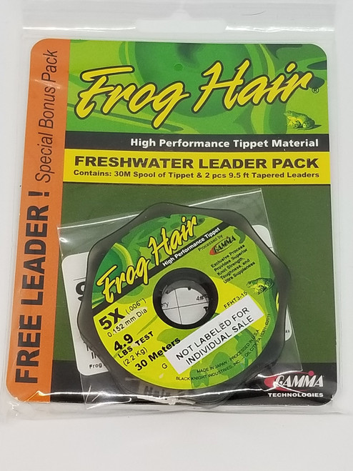 Frog Hair Tippet 30m And 9 1/2ft Leader Stiff Butt Value Pack