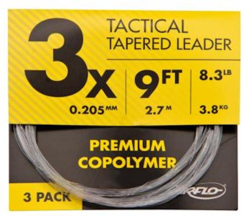 AirFlo Tactical Tapered Mono Leader 3 Pack