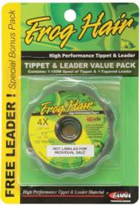 Frog Hair Tippet Guide 100m And 9 1/2ft Leader Stiff Butt Value Pack