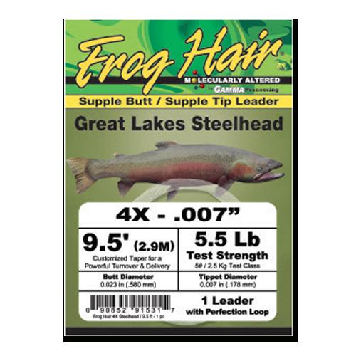 Frog Hair Great Lakes Steelhead Leader