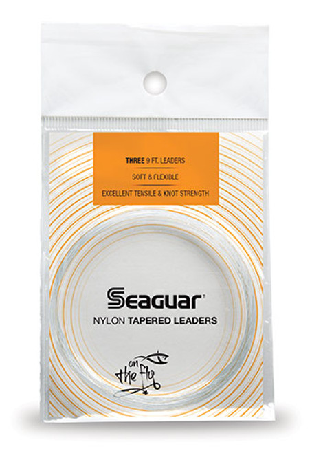 Seaguar Knotless Nylon Tapered 9' 3 Pack Leaders