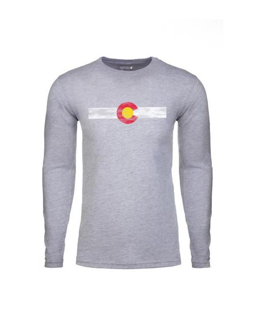 Republic of Colorado Men's Single Stripe Long Sleeve - Heather Grey