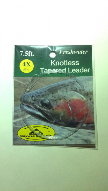 Stone Creek Knotless Tapered Leader 7.5ft - Fly Fishing
