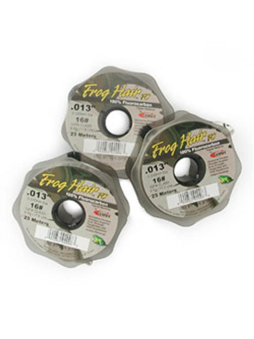 Frog Hair Fluorocarbon Tippet Spool 25m Assorted Sizes - Fly Fishing