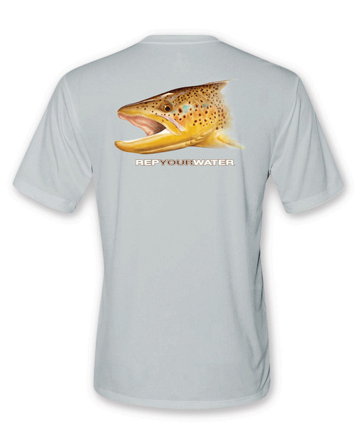 Rep Your Water Brown Trout Short Sleeve Performance Shirt