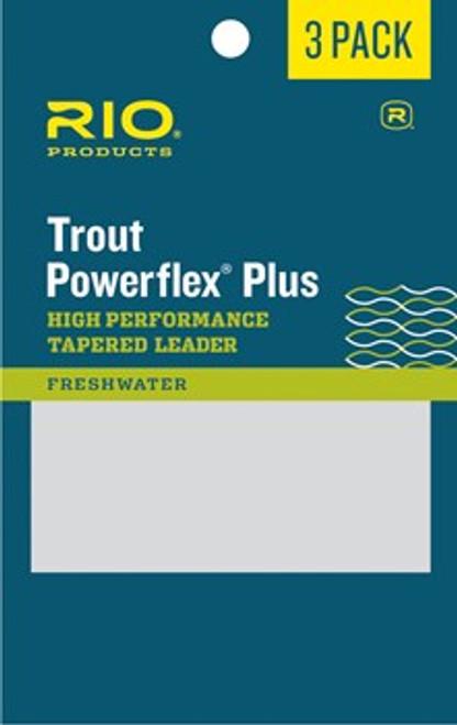 Rio Powerflex Plus 9 ft. Leader 3 Pack