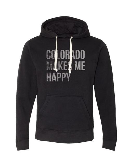Republic Colorado Makes Me Happy Hoodie Sweatshirt
