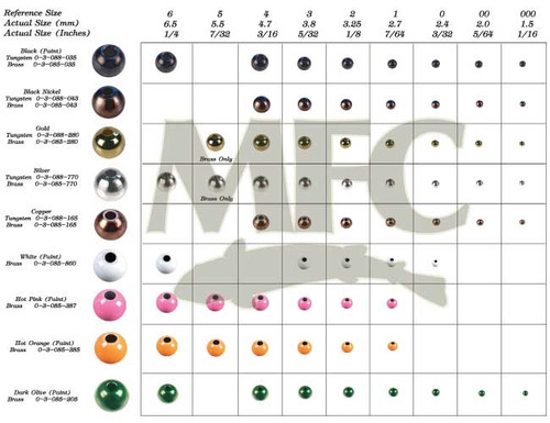 Montana Fly Company Round Tungsten Beads