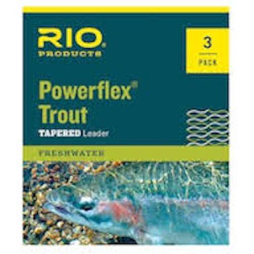 Rio Powerflex 7.5 ft. Leader 3 Pack - Fly Fishing