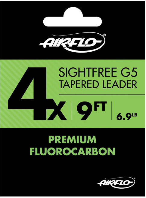 AirFlo Sightfree G5 Fluorocarbon Tapered Leader