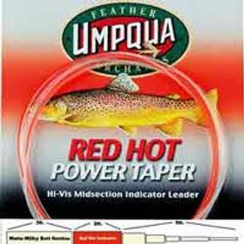 Umpqua Red Hot Power Taper Hi-Vis 10' Leader - Fly Fishing