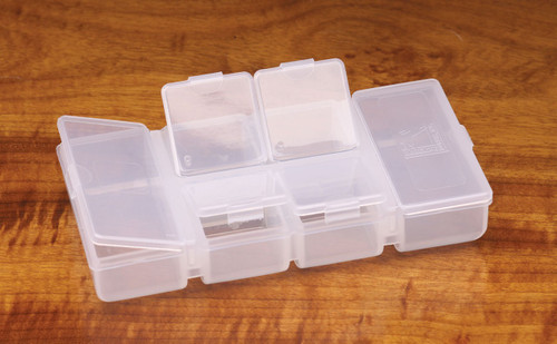 HARELINE FLIP CAP 4 SMALL 2 LONG COMPARTMENT BOX - Fly Fishing