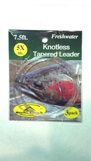 Stone Creek Knotless Tapered Leader 7.5ft 3pk - Fly Fishing