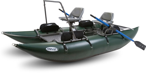 Outcast Fish Cat 13 - Green - Pontoon Boat
