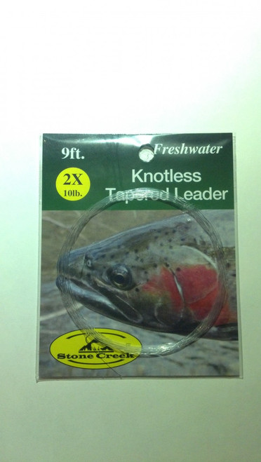 Stone Creek Knotless Tapered Leader 9ft - Fly Fishing