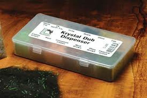 Krystal Dub Dispenser - 12 Popular Colors - by Hareline Dubbin - Fly Tying