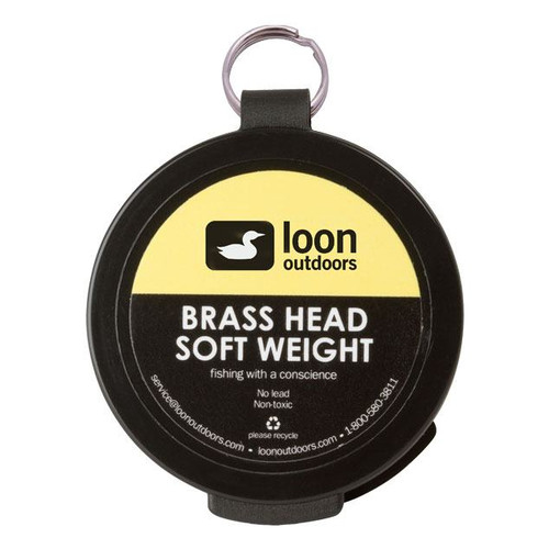 Loon Outdoors Brass Head Soft Weight ::: Fly Sink - Fly Fishing