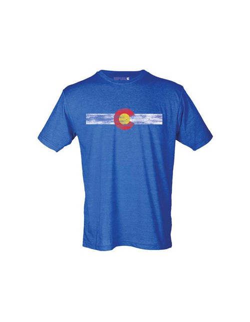 Republic of Colorado Single Stripe Tee Shirt - Vintage Royal