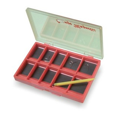 STONFO SMALL ORANGE MAGNETIC HOOK BOX with 10 Compartments - Umpqua Tiemco