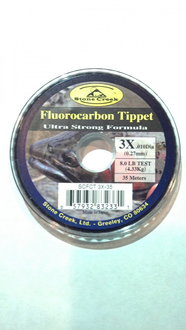 Stone Creek Fluorocarbon Tippet Spools 35M - Fly Fishing