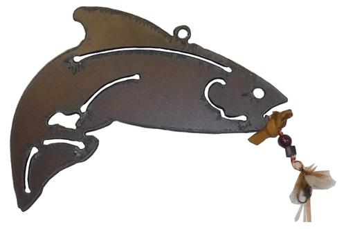 Metal Cut Trout Ornament