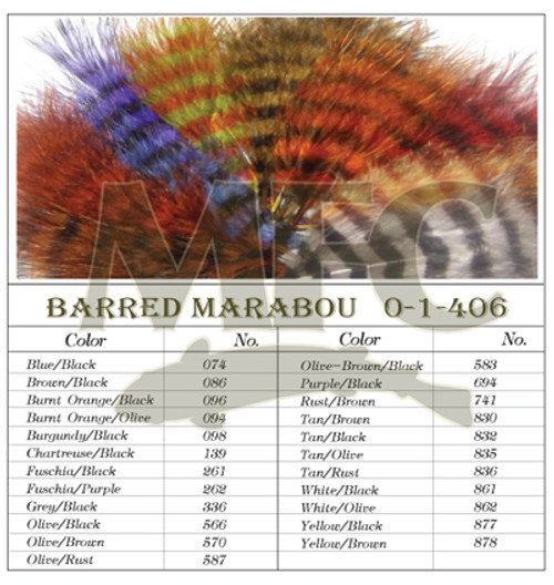Montana Fly Company Barred Marabou Blood Quill - (1/8 oz)