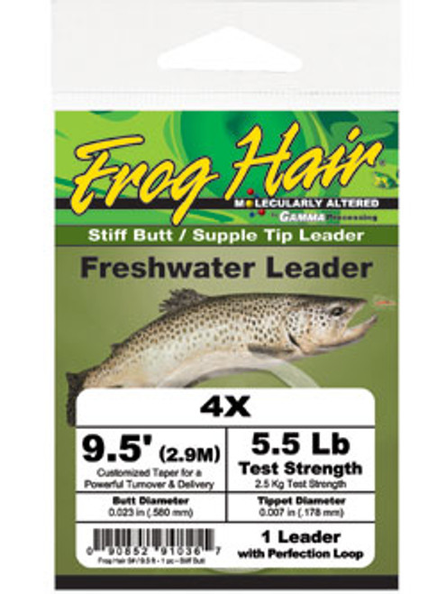 Frog Hair Tapered Stiff Butt Leaders (3/pk) - Fly Fishing