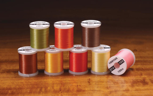 8/0 VEEVUS THREAD - ASSORTED COLORS - FLY TYING