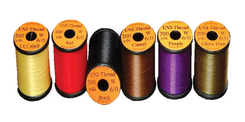 UNI 6/0 Waxed Thread Multiple Colors - Fly Tying