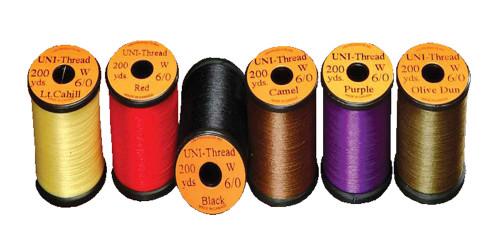 UNI 6/0 Waxed Thread Multiple Colors - Fly Tying