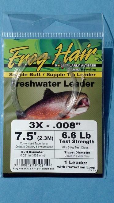Frog Hair 7.5' Supple Butt / Supple Tip Tapered Leader