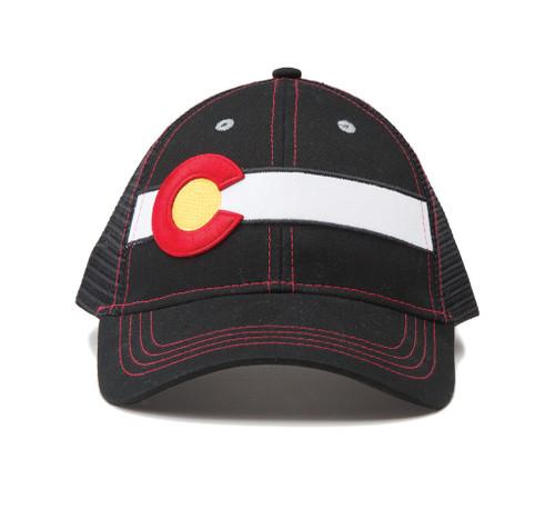 Republic Colorado Classic Single Stripe Hat Black