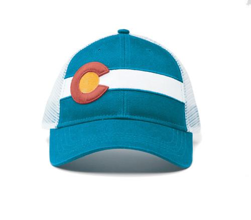 Republic Colorado Classic Single Stripe Hat Teal