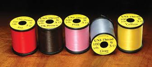 UNI 3/0 Waxed Thread Multiple Colors - Fly Tying
