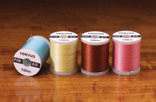 6/0 VEEVUS THREAD - ASSORTED COLORS - FLY TYING