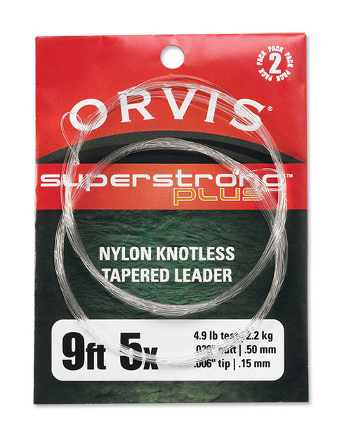 Orvis Superstrong Plus Knotless Tapered 9' Leader 2 Pack