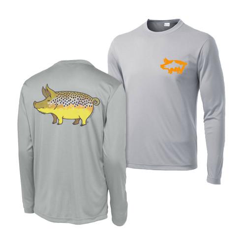 Nate Karnes Performance Shirt - Pig Brown Trout
